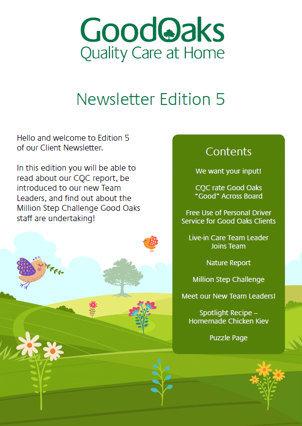Newsletter edition 5 Cover